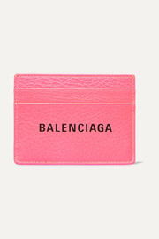 Balenciaga Printed textured-leather cardholder