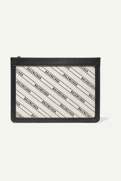 Balenciaga Shoulder-bags Leather-trimmed printed canvas shoulder bag