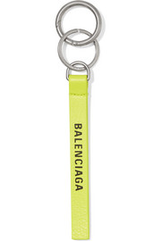 Neon printed leather keychain