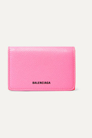 Balenciaga Ville neon printed leather wallet