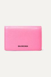 발렌시아가 Balenciaga Ville neon printed leather wallet
