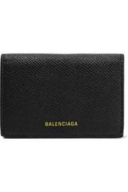 Balenciaga Ville mini printed textured-leather wallet
