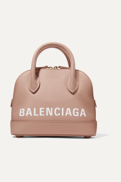 Balenciaga Leathers Ville XXS AJ printed textured-leather tote