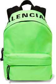 Wheel neon embroidered shell backpack