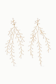 Baby's Breath gold-plated pearl earrings