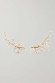 Baby's Breath gold-plated pearl ear cuffs