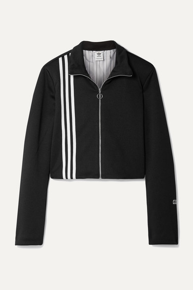 Tlrd Striped Stretch Jersey Track Jacket by Adidas Originals