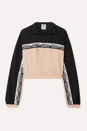 adidas Originals Cropped striped shell track jacket