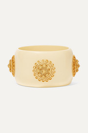 Coco resin and gold vermeil cuff