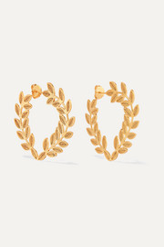 Lauren gold vermeil hoop earrings