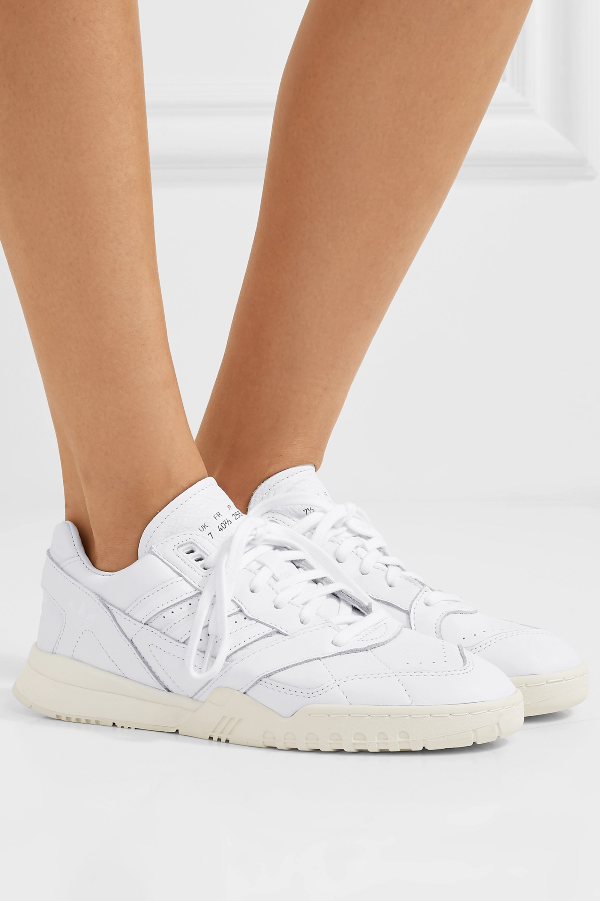 White A.R. Trainer leather sneakers