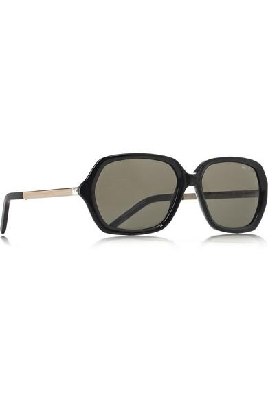 9e3e9ecbd43 Yves Saint Laurent | Square-frame metal and acetate sunglasses | NET ...
