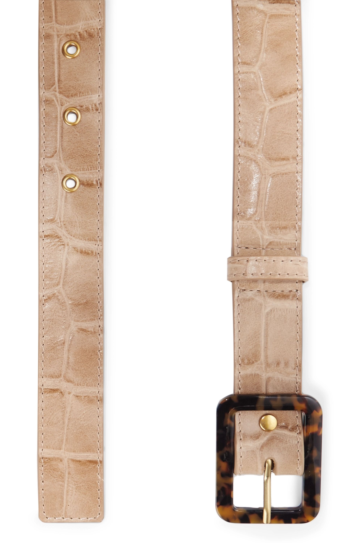 STAUD Croc-effect leather belt