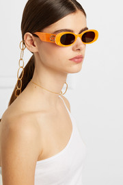 STAUD Gold-tone sunglasses chain