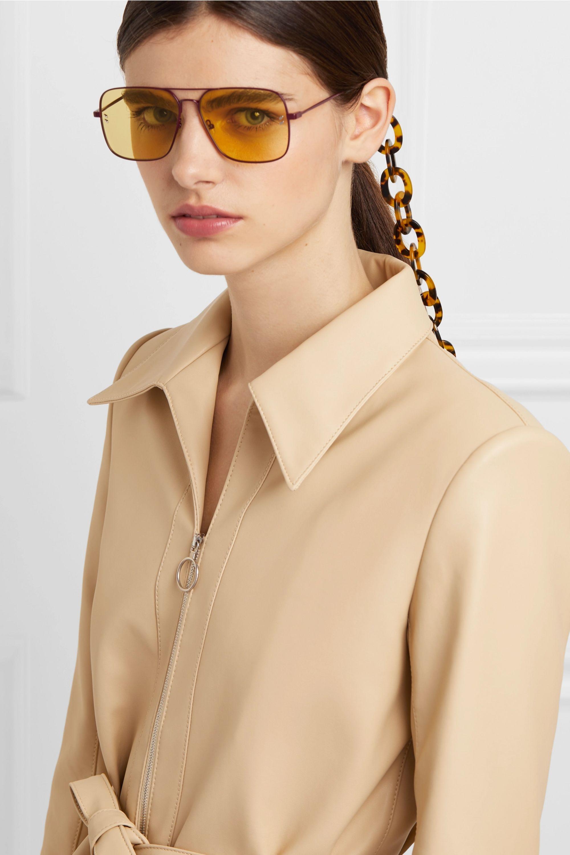 STAUD Tortoiseshell resin sunglasses chain
