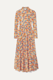 Judy tiered floral-print silk crepe de chine maxi dress