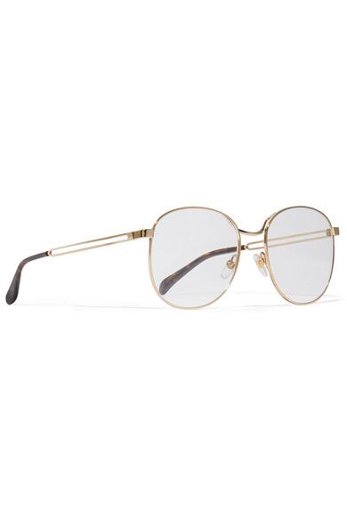 Givenchy Glasses Round-frame gold-tone optical glasses