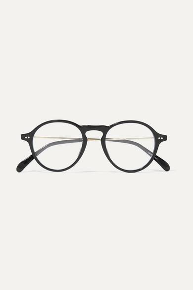 6256e163bc8a Givenchy | Round-frame gold-tone and acetate optical glasses |  NET-A-PORTER.COM