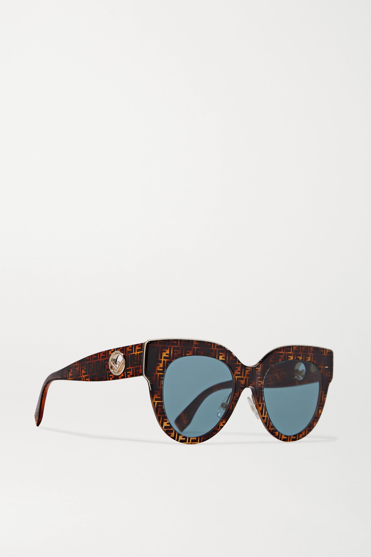 Fendi Oversized printed D-frame acetate sunglasses