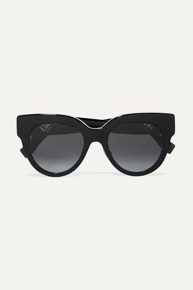 06c511f6881 Fendi. Oversized cat-eye acetate sunglasses
