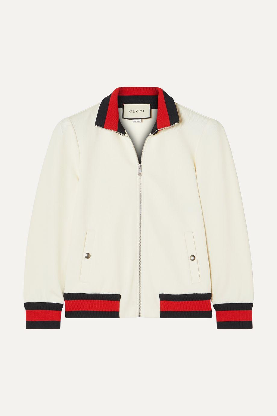 Gucci 条纹斜纹布飞行员夹克