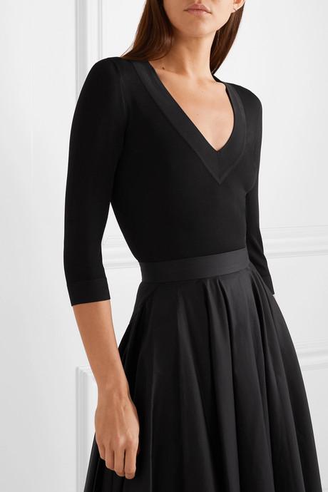 Stretch-knit bodysuit