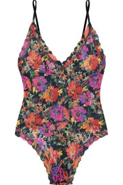 Hanky Panky Summer Nights floral-print stretch-lace thong bodysuit