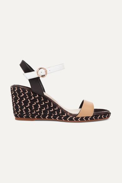 SOPHIA WEBSTER | Sophia Webster - Lucita Leather Espadrille Wedge Sandals - Tan | Goxip