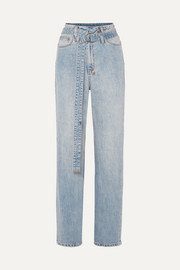 Ksubi Playback belted high-rise straight-leg jeans