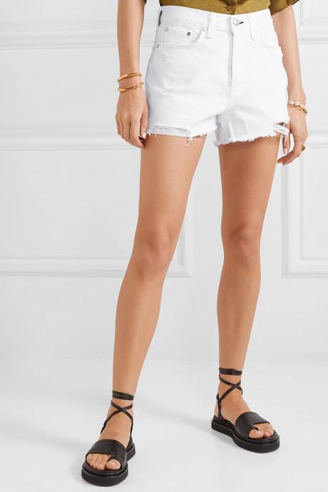 Maya distressed denim shorts