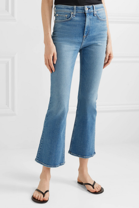 Nina cropped high-rise flared jeans