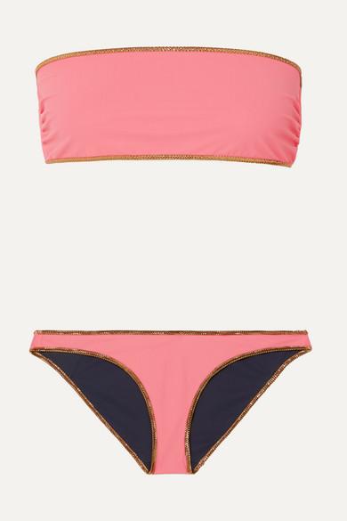 Bikini Bandeau Réversible À Finitions En Lurex Hampton