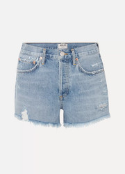 AGOLDE Parker distressed denim shorts