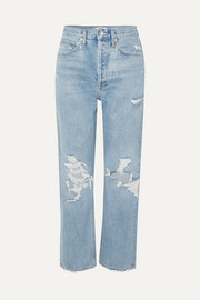 AGOLDE '90s distressed high-rise boyfriend jeans