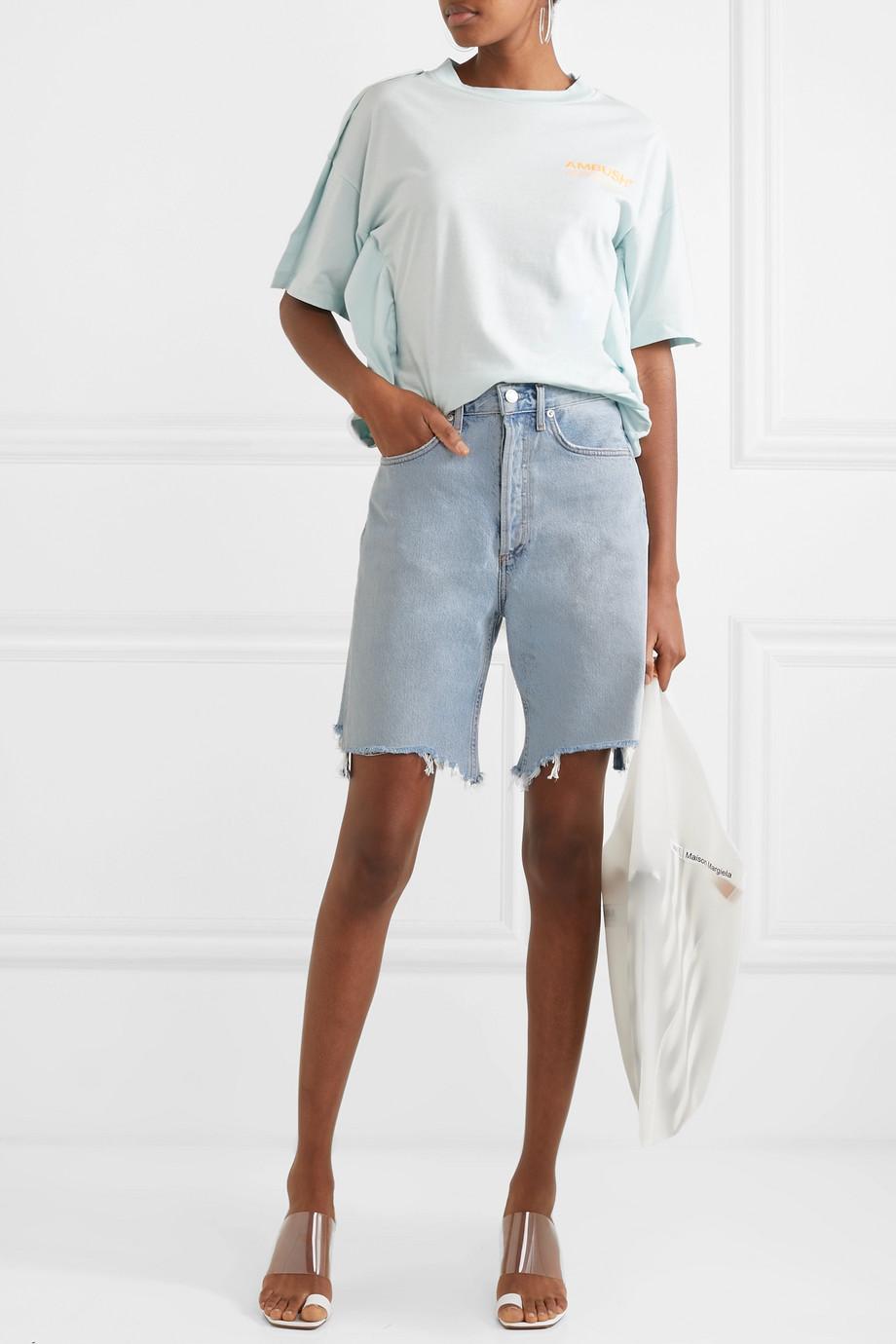 AGOLDE '90s distressed denim shorts