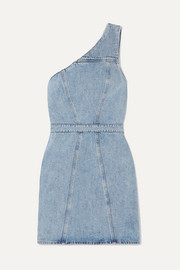 AGOLDE Annex one-shoulder denim mini dress