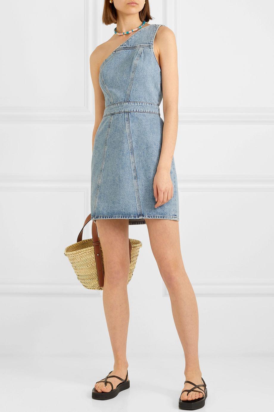 AGOLDE Annex one-shoulder denim mini dress
