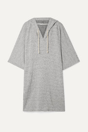 Tori hooded striped Pima cotton and modal-blend tunic