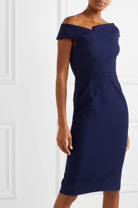 Darley off-the-shoulder crepe dress