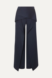 Roland Mouret Caldwell draped hammered silk-satin wide-leg pants