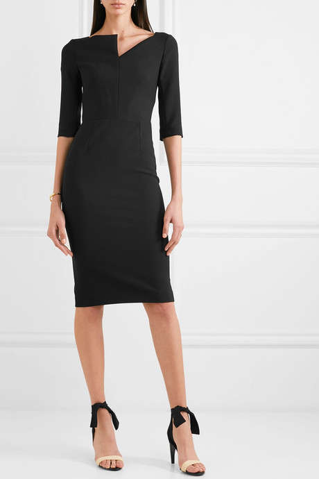 Etty crepe midi dress