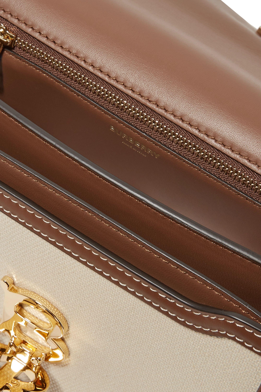 Burberry Sac porté épaule en toile et en cuir Small