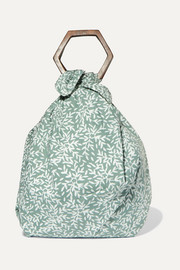 + NET SUSTAIN Kamber printed organic cotton-voile tote