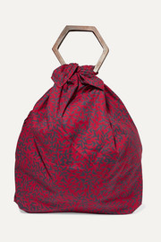 + NET SUSTAIN Kamber printed cotton-voile tote
