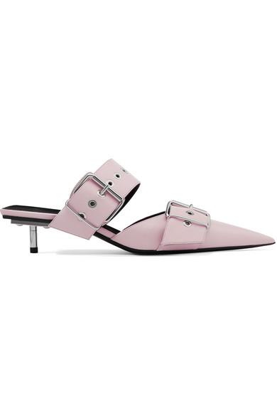 cba40b69d1f7 Balenciaga. Belt leather mules