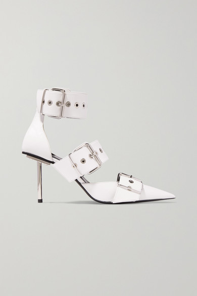 Belt Buckled Leather Pumps by Balenciaga