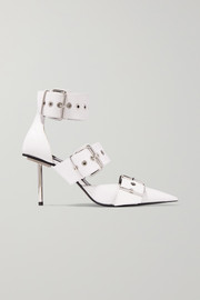 Balenciaga Belt buckled leather pumps
