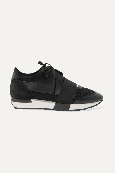 Balenciaga Sneakers Race Runner stretch-knit, mesh, suede and leather sneakers