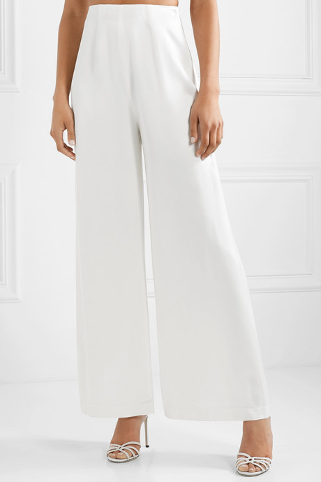 The Coco satin wide-leg pants