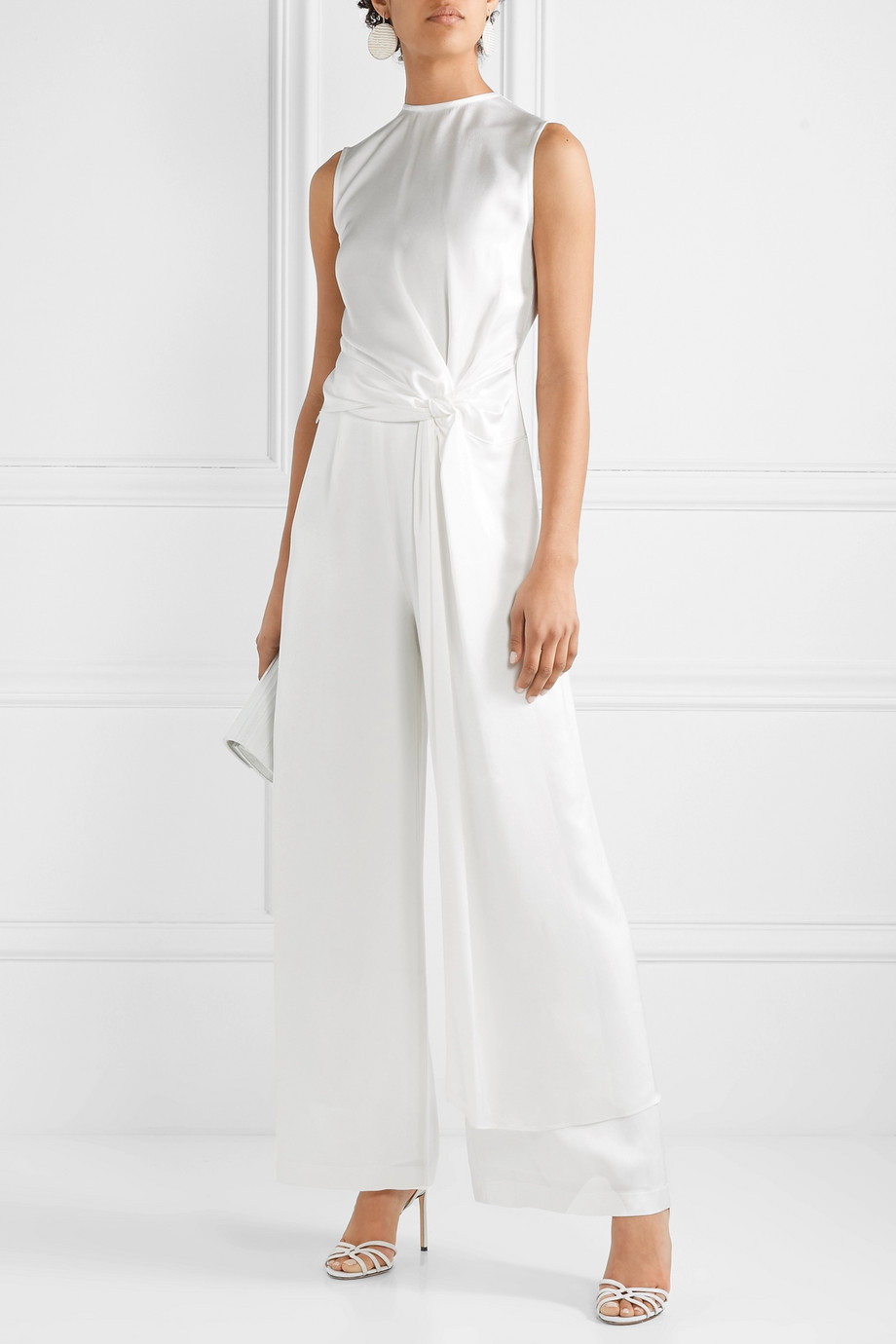 Vanessa Cocchiaro The Coco satin wide-leg pants